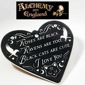 Alchemy Gothic Roses Are Black Heart Trivet